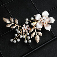 Bridal Wedding Gold Leaf Branch Pearl Hair Clip Hairpin Headpiece Jewelry Surpri
