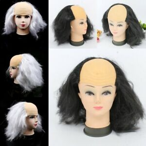 Halloween Masquerade Show Dress Up Funny Bald Wig Old Man Headdress White Wig