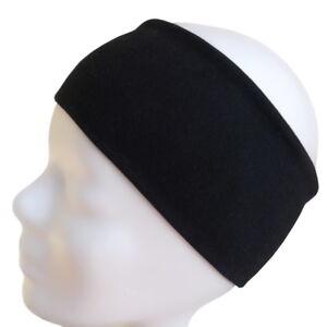 hochwertiges Yoga Sport Haarband Stirnband schwarz 98% Baumwolle 2% Elasthan