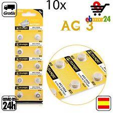 10x AG3 PILAS pila de botón baterías 392A boton bateria AG 3 L736 384 392 SR41W