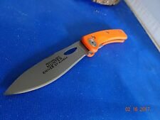 KNIVES OF ALASKA POCKET KNIFE 397FG D2 BLADE ORANGE G10 OD FEATHERLIGHT HUNTER