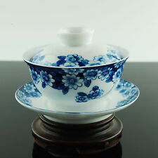 Blue & White Chinese Porcelain Gaiwan Lid Saucer Coaster Bowl Gong Fu Cup New