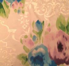 DESIGNERS GUILD Capucheen Florimund Silk Floral Blue Green Gold Remnant New