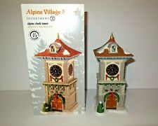 Dept 56 new Alpine Clock Tower 4020170 Nib Alpine Village Series Retired