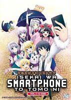 DVD Anime Isekai Wa Smartphone To Tomo Ni Complete Series (1-12) English Dubbed