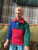 Handsome Barbie KEN DOLL blonde Hair Dressed one Shoe.