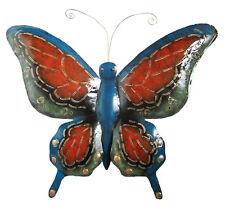 Grand Papillon Bleu Métal Art mural Adapté intérieur et extérieur usage 78 cm