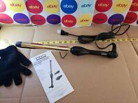 "Pro Beauty Tools PBIR1900 Curls Professional Extra-Long Gold Curling Wand, 1"""