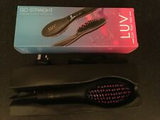Luv Your Hair Hair Straightening Brush Anti Static Scald LCD Screen