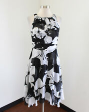 White House Black Market Flowy Layered Floral Print Dress Size 0 Sleeveless