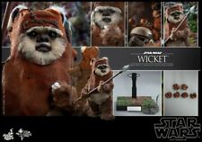 Hot Toy 1/6 Wicket Movable Action Figure Set Star Wars VI With Stand MMS550 Toys
