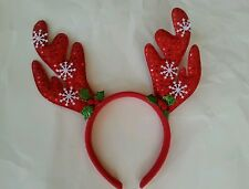 Nice red christmas reindeer headband fancy party decoration