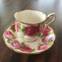 """Old English Rose Cup and Saucer   (Cup as is)   Saucer 5 1/2"""""""