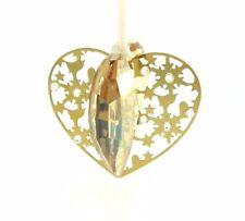 Swarovski Crystal Golden Heart Ornament