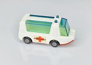 1971 Matchbox Lesney Superfast #45 Stretcha Fetcha Ambulance Red Base Car