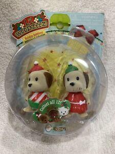 Li'l Woodzeez Holiday Bobbleez  Bobblehead Figures Dolly And Dandy Dog New