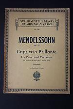 SHEET MUSIC BOOK: Mendelssohn Capriccio Brillante for Piano & Orchestra Schirmer