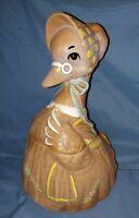 "Vtg. 1962 Ceramic ""Mother Goose"" LARGE Cookie Jar, Twin Winton ~ California USA"