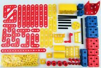 Vintage Meccano Plastic Nuts Bolts Straights Angles Boxes Axels Construction Lot