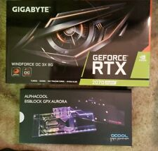 GIGABYTE RTX 2070 SUPER Windforce OC 3X 8GB GPU+ Alphacool Custom Waterblock NEW