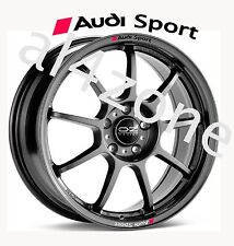 8 no. Car Styling `AUDI SPORT`with Badge - Decal Sticker for Wheels