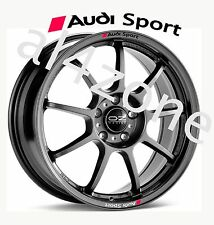 8no. Car Styling `AUDI SPORT`with Badge - Decal Sticker for Wheels
