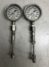 LOT OF 2 ASHCROFT PRESSURE GAUGE 0-5000 PSI
