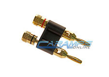 BULLZ AUDIO GOLD PLATED SPEAKER TERMINAL BANANA PLUG JACK FOR UP TO 8 GAUGE WIRE