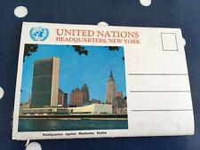 Uno de las Naciones Unidas Nueva York Postales en cachet