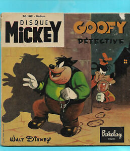 GOOFY DÉTECTIVE   DISQUE MICKEY Barclay 70.109  (SP 2 t. TBE)