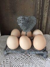 Shabby Chic Eierhalter Halter für Eier Tischdeko Zink Shabby Vintage Look NEU