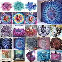 Boho Indische Mandala Wandteppich Tapisserie Hippie Wandbehang Strandtuch Deko