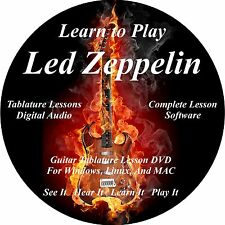 Led Zeppelin Guitar TABS Lesson CD 126 Songs + Backing Tracks + BONUS!