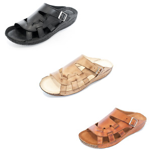 KS404 Damen Schuhe Sandalen Pantoletten aus Leder für den Sommer Sommerschuhe