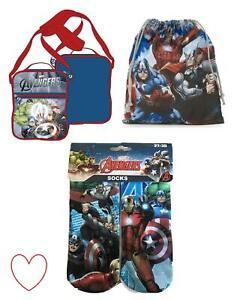 Childrens Boys Avengers Socks Bag Over Shoulder Accessories Gift Christmas