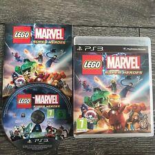LEGO MARVEL SUPER HEROES PS3 PlayStation 3 GIOCO COMPLETO SPIDER-MAN IRON MAN ecc.