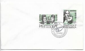 GUATEMALA 1992 DISCOVERY OF AMERICA COLOMBUS SHIPS FIRST DAY COVER 2 VALUES FDC