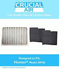 Repl Hunter 30057 30059 30067  00004000 30078 Air Purifier Filter & 2 Carbons Part # 30928