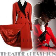 COAT 40s 50s JACKET 30s RED VINTAGE 16 18 FEMME FATALE EQUESTRIAN MISTRESS
