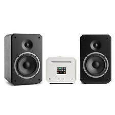 NUMAN HiFi Stereoanlage Lautsprecher Receiver Internetradio weiß + Boxen schwarz