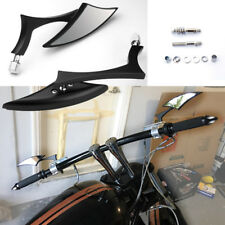 BLACK BLADE STEADY MOTORCYCLE REARVIEW MIRRORS FOR HARLEY CRUISER CHOPPER BOBBER