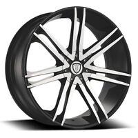 "22""x8"" B20 Wheels Black Rims Tires Fits Malibu Maxima Camry Venza Impala CTS"