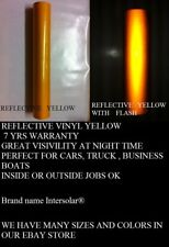 12 X 48 Yellow Reflective Vinyl Adhesive Cutter Sign Hight Reflectivity