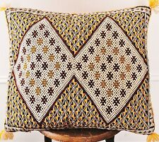 Vintage Moroccan pillow cover with Sequins 17'' X 22'' Double face