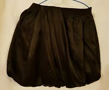 J.Crew girls Crewcuts black 100% silk skirt with pleated detail size 12 years