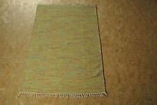 Hochwertiger Baumwoll Handweb Teppich HAPPY grün 120x180 NEU