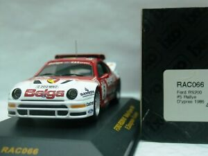 WOW EXTREMELY RARE Ford RS200 Turbo 1986 #5 24 Ypres WRC 1:43 Ixo-Minichamps-HPI