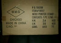 Brand New In Box Wood Printer Stand #18517 W. M. G.