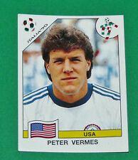N°112 PETER VERMES USA PANINI COUPE MONDE FOOTBALL ITALIA 90 1990 WC WM