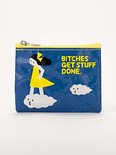 """Blue Q """"Bitches Get Stuff Done"""" novelty zipper coin purse recycled Kanae Sato"""